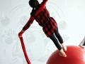 fille tissu et boule atelier 12-18 ans école de cirque Oreka Bayonne
