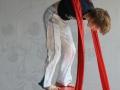 garçon tissu et boule atelier 12-18 ans école de cirque Oreka Bayonne