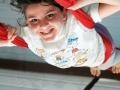 Tissu fille tête en bas atelier 12-18 ans école de cirque Oreka Bayonne