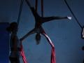Figure au tissu atelier 12-18 ans école de cirque Oreka Bayonne