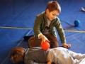 atelier 4-5 ans école de cirque Oreka séance massage