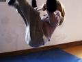 atelier 4-5 ans école de cirque Oreka montée au trapèze