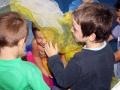 atelier 4-5 ans école de cirque Oreka enfants avec foulards