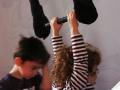 trapèze débuts à l'école de cirque Oreka