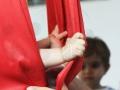 tissu figure : le cocon atelier cirque Oreka