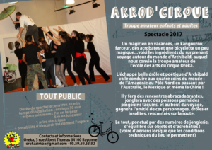 Akrod'cirque spectacle 2017